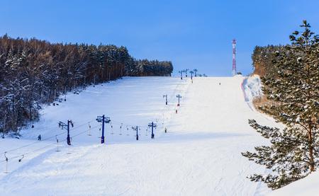 Ãîðíîëûæíàÿ òðàññà  Êàòóíü. Resort Belokurikha. Altai, Russia