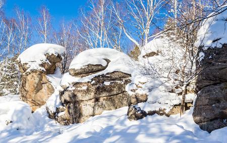 Rocks Four Sisters. Mount Tserkovka. Resort Belokurikha, Altai, Russia