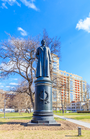 Monument to Felix Dzerzhinsky in the Museon Art Park in Moscow, Russia