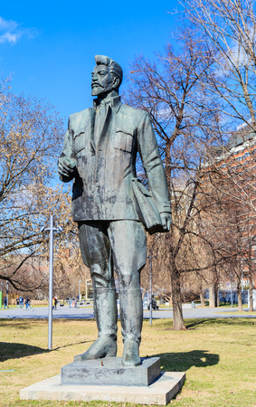Monument to J. Sverdlov in the Museon Art Park in Moscow, Russia Editorial
