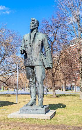 Monument to J. Sverdlov in the Museon Art Park in Moscow, Russia Stock Photo