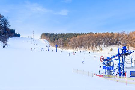 Mountain skiing Katun. Resort Belokurikha. Altai, Russia