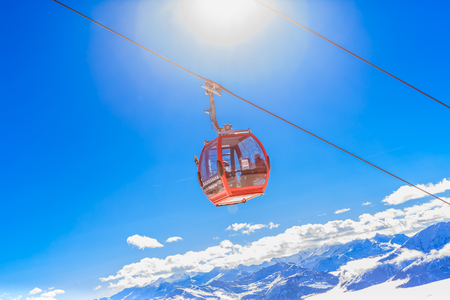 The lift in the ski resort of Soll, Tyrol, Austria