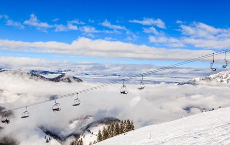 Ski lift.  Ski resort  Soll, Tyrol, Austria