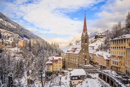 primus: Church of St. Primus and Felitsian. Austrian spa and ski resort Bad Gastein Editorial