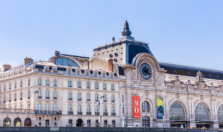 Orsay Museum on the shore of the Seine river, Paris, France