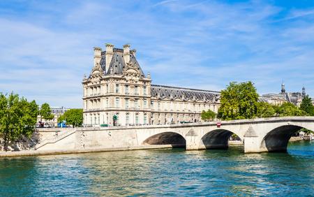 Flora Pavilion ot the Louvre and Pont Royal. Paris. France