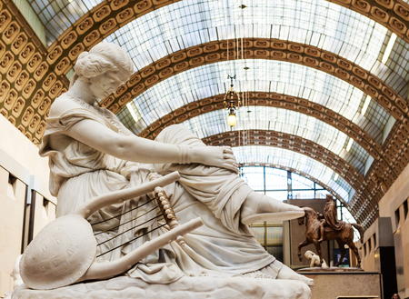 Sappho by Jean Jacques Pradier.  Musee DOrsay. Paris, France
