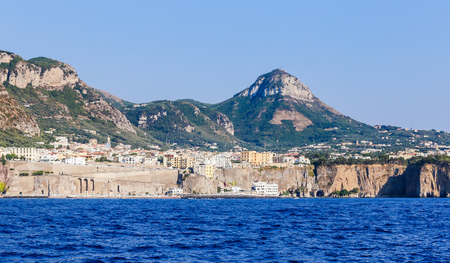 View of the coast Meta di Sorrento, comune in the Province of Naples,  Italy.    Banque d'images