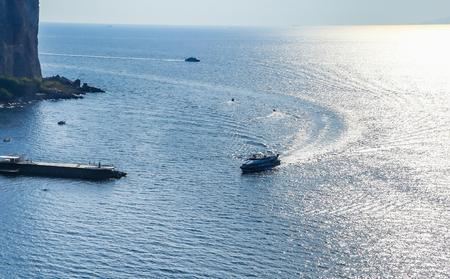 The Amalfi Coast near Vico Equense. Italy Stock Photo