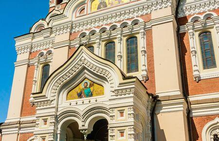 Fragment of Alexander-Nevski-Cathedral on Toopmea hill, Tallinn, Estonia, Europe