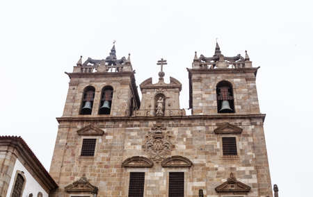 Facade of the Cathedral of Braga, Braga, Braga District, Portugal,