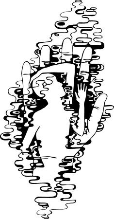 thoughtfulness: boy, line, hand