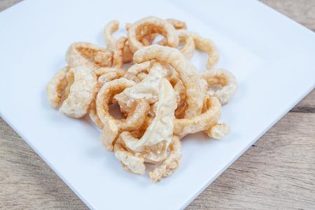 crackling: Pork snack,Pork rind, Pork scratchings, Pork crackling appetizers