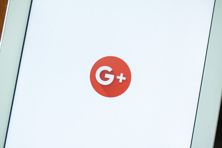BANGKOK,THAILAND - May 11,2016: Google+ is Googles social network service to compete with Facebook and launched in late June 2011