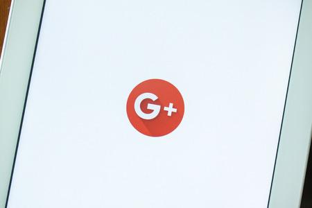 BANGKOK, THAILANDIA - Maggio 11,2016: Google+ è il servizio di social network di Google per competere con Facebook e lanciato alla fine di giugno 2011 Archivio Fotografico - 94278312