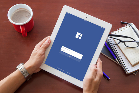 bangkok, thailand - June 17.2016: Facebook is an online social networking service founded in February 2004 by Mark Zuckerberg with his college roommates and is now a fortune 500 company. Editorial