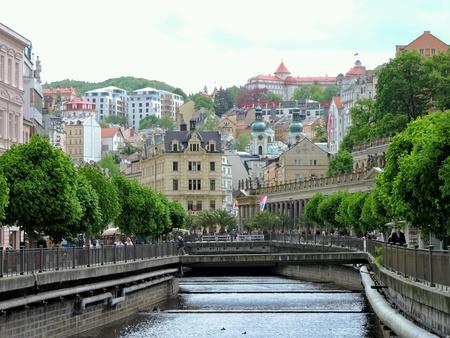 vary: Karlovy Vary, Czech Republic.