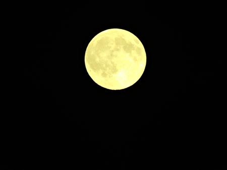 Full moon isolated on black background photo