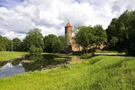 Castle XVI century in Lithuania Stock Photo