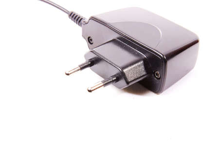 Mobile phone charger on a white background