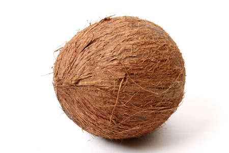 Coconut isolated on a white background. Close up image photo