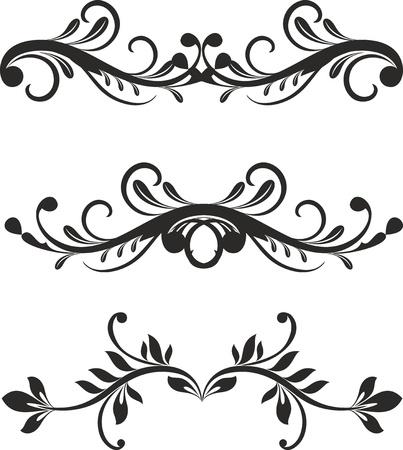 Elementos de diseño floral del vector