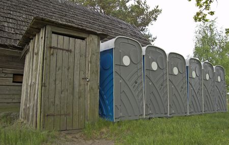 mensroom: The main and reserve toilets.