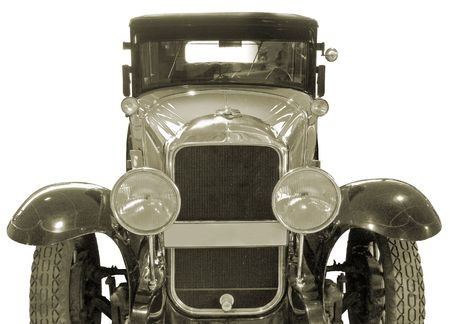 antiquarian: The antiquarian car isolated over white Stock Photo