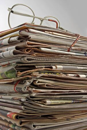 The daily read newspapers. Stock Photo - 4009572