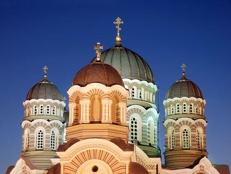 Riga orthodox temple.
