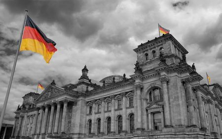The Reichstag building of German government in Berlin. Stock Photo