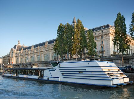 Quay of the Seine river and Museum Orsay in Paris, France. photo