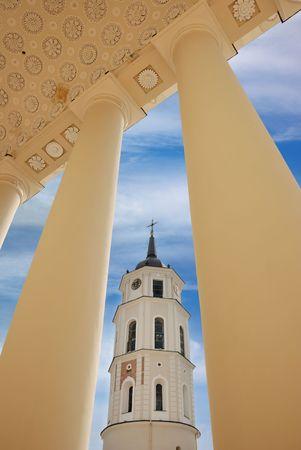 Glockenturm der Kathedrale von Vilnius in Vilnius, Litauen. Standard-Bild - 7006576