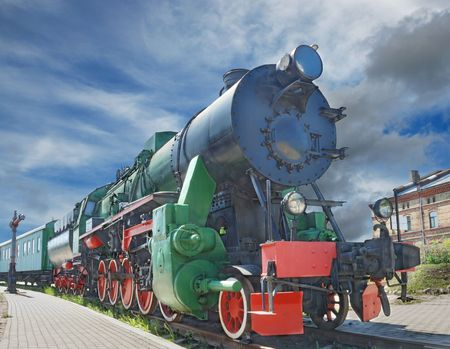 The old steam locomotive in Riga depot. photo