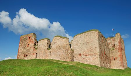 15th century: Livonia Order Castle, was built in the middle of the 15th century. Bauska, Latvia.