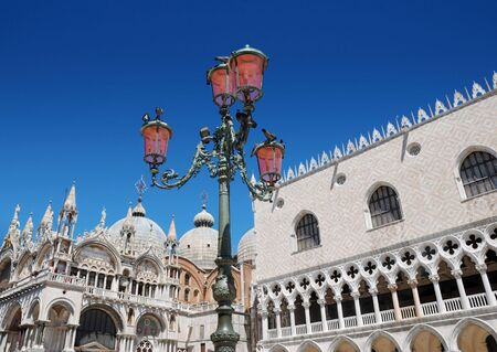 The San Marco basilica and Doges palace in Venice, Italia. photo