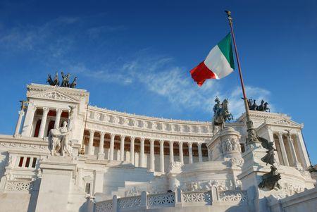 Monument Vittorio Emanuele II or Altar of the Fatherland in Roma, Italia. Stock Photo - 7700591