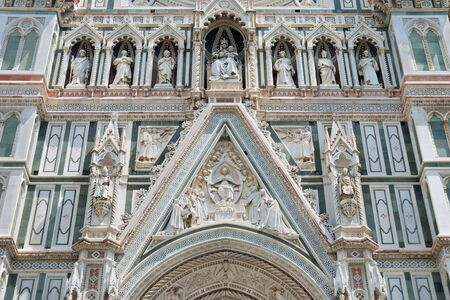 Fragment of facade the Basilica di Santa Maria del Fiore in Florencia, Italia. Stock Photo - 7855906