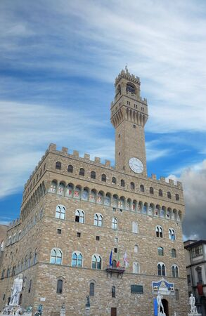 The Palazzo Vecchio, the town hall of Florence, Italy. photo