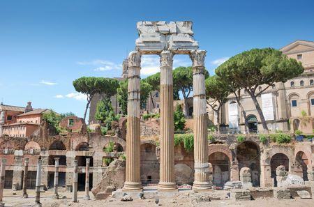 edifice: The 3 columns Corinthian order of the temple of Castor and Pollux (Tempio dei Dioscuri) is an ancient edifice in the Roman Forum, Rome, Italy.