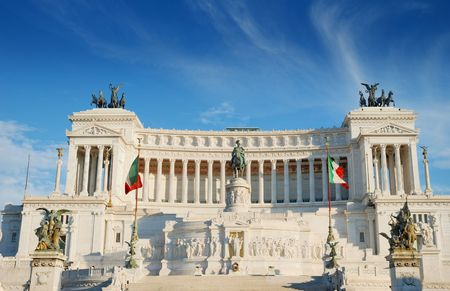 Monument Vittorio Emanuele II or Altar of the Fatherland in Roma, Italia. Stock Photo - 8179774