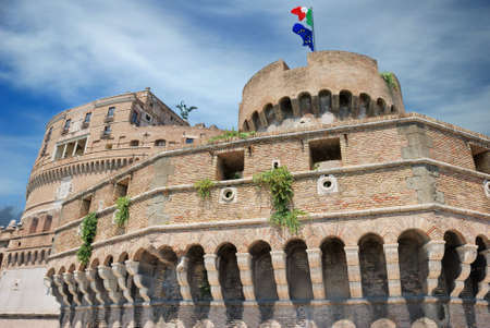 angelo: The Sant Angelo Castle in Rome, Italy. Stock Photo