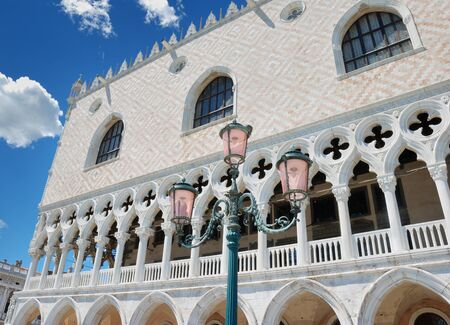 doges: Facade of the Doges palace on the San Marco square in Venice, Italy. Stock Photo