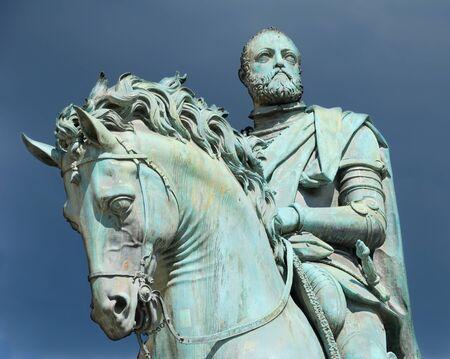 Equestrian statue of Cosimo I de' Medici on the Piazza della Signoria, by Giambologna. Florence, Italy. Stock Photo - 8457014