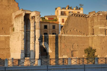 Temple of Mars Ultor on Augustus Forum in Rome, Italy. photo