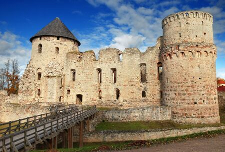 13th century: The Cesis castle, Latvia. Early 13th century.