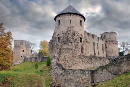 The Western Tower of the Cesis castle, Latvia. Early 13th century. Editorial