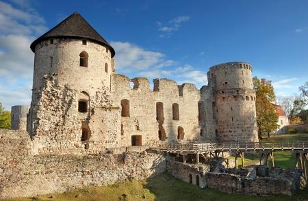 The Cesis castle, Latvia. Early 13th century.