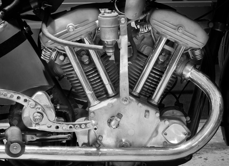 The motorcycle motor. photo